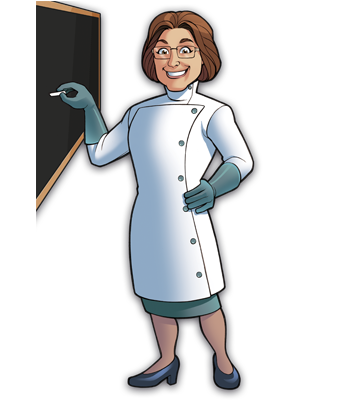 Mad Scientists' Guild Member, Dr. Mindstein.