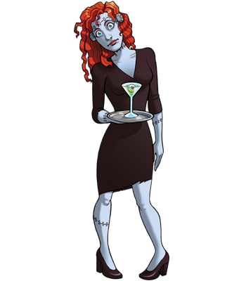 Mad Scientists' Guild Member, Red.