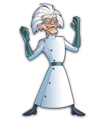 Mad Scientists' Guild Member, Dr.E. Frankendie.