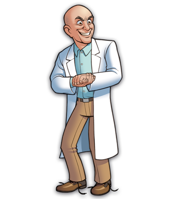 Mad Scientists' Guild Member, Dr. Lecourantvital.
